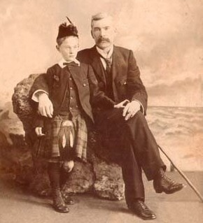 Robert Fergusson Strong with his son, Robert Fergusson Strong