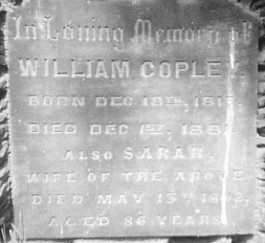 William COPLEY, Tickhill Parish Church Cemetery